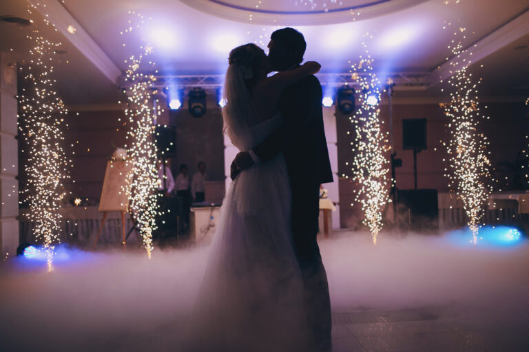 Bride & Groom First Dance - Dance on cloud with spark effects